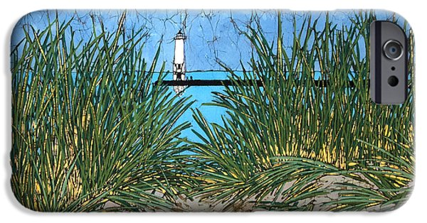 House Tapestries - Textiles iPhone Cases - Dune Grass and Pier iPhone Case by Terri Haugen