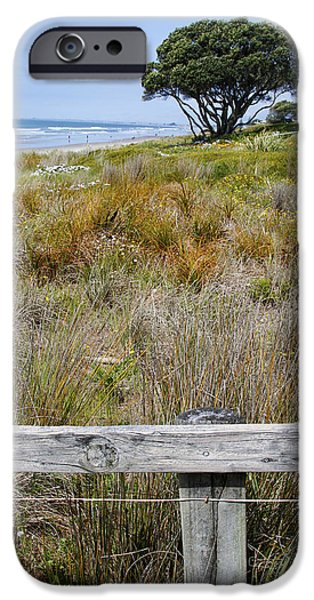 Sand Fences iPhone Cases - Dune grass iPhone Case by Les Cunliffe