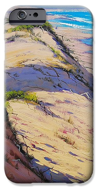 Dunes Paintings iPhone Cases - Dune Scape iPhone Case by Graham Gercken