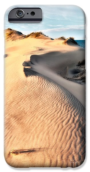 Pamlico Sound iPhone Cases - Dune Shadows - Outer Banks iPhone Case by Dan Carmichael