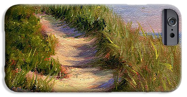Chatham iPhone Cases - Dune Walk iPhone Case by Judith McKenna
