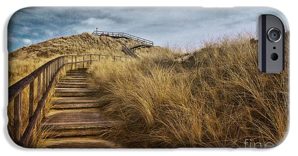 Sand Dunes Mixed Media iPhone Cases - Dune with Viewpoint iPhone Case by Angela Doelling AD DESIGN Photo and PhotoArt