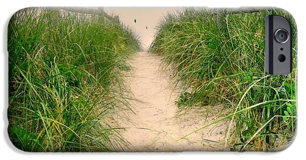 Maine Beach iPhone Cases - Dunes Catch Light iPhone Case by Diana Angstadt