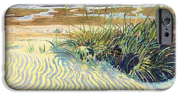 Sand Dunes Pastels iPhone Cases - Dunes iPhone Case by David Randall