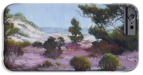 Sand Dunes Pastels iPhone Cases - Dunes Mystery iPhone Case by Marsha Savage