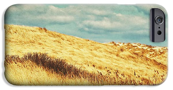 North Sea iPhone Cases - Dunes of Amrum iPhone Case by Angela Doelling AD DESIGN Photo and PhotoArt