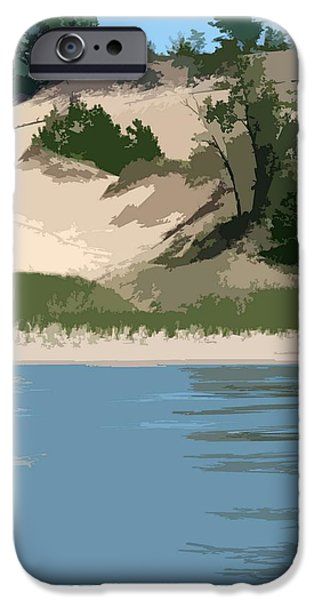 Dunes of Lake Michigan iPhone Case by Michelle Calkins