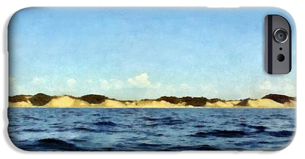Michelle iPhone Cases - Dunes Panorama iPhone Case by Michelle Calkins