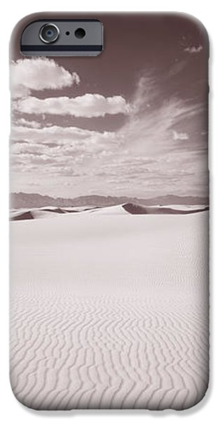 White Sand iPhone Cases - Dunes, White Sands, New Mexico, Usa iPhone Case by Panoramic Images