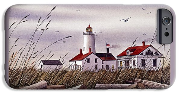 Lighthouse iPhone Cases - Dungeness Lighthouse iPhone Case by James Williamson