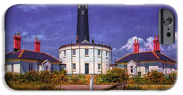 Coastguard iPhone Cases - Dungeness Old Lighthouse iPhone Case by Chris Lord