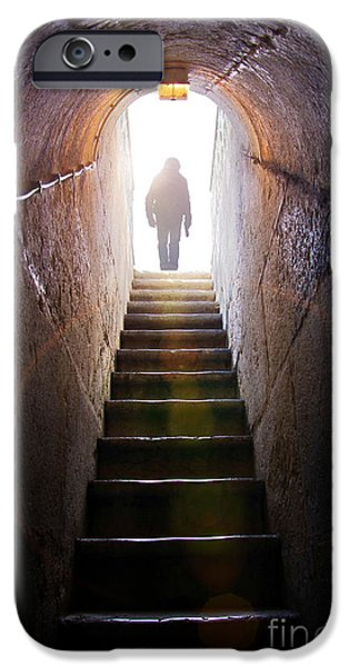 Above iPhone Cases - Dungeon Exit iPhone Case by Carlos Caetano