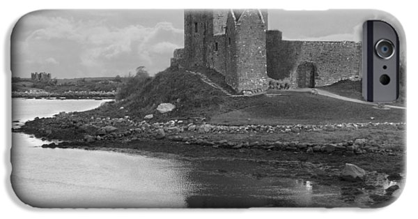 Walkway Digital iPhone Cases - Dunguaire Castle - Ireland iPhone Case by Mike McGlothlen