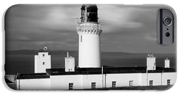 Lighthouse iPhone Cases - Dunnet Head Lighthouse At Easter Head iPhone Case by Panoramic Images