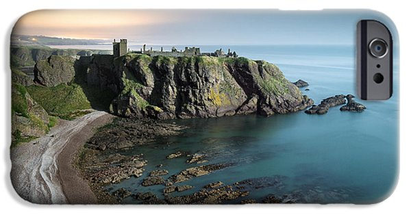 North Sea iPhone Cases - Dunnottar by Moonlight iPhone Case by Dave Bowman