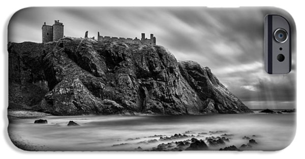 North Sea iPhone Cases - Dunnottar Castle 2 iPhone Case by Dave Bowman