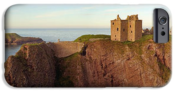 North Sea iPhone Cases - Dunnottar Castle iPhone Case by Grant Glendinning