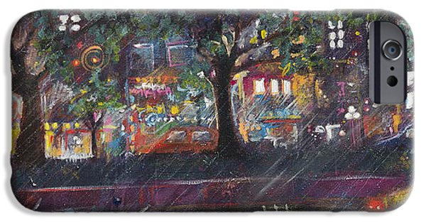 D.c. iPhone Cases - Dupont in the Rain iPhone Case by Leela Payne