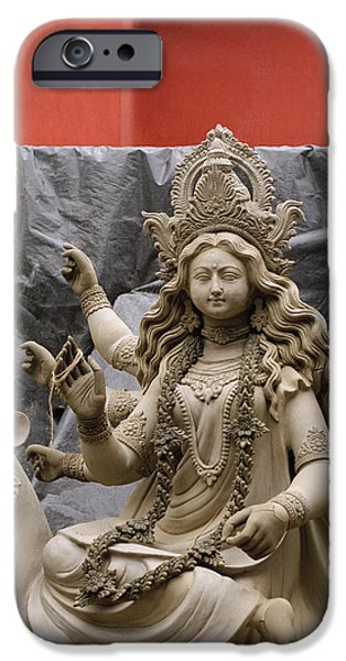 Durga In Kumartuli iPhone Case by Shaun Higson