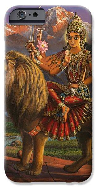 Durga Ma iPhone Case by Vrindavan Das