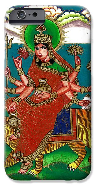 Hindu Goddess iPhone Cases - Durga Maa iPhone Case by Ashok Kumar