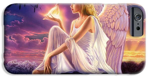Dove iPhone Cases - Dusk Angels Dusk Variant 1 iPhone Case by Andrew Farley