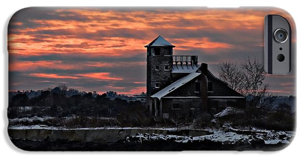 Old Barn iPhone Cases - Dusk At Wood Island iPhone Case by Marcia Lee Jones
