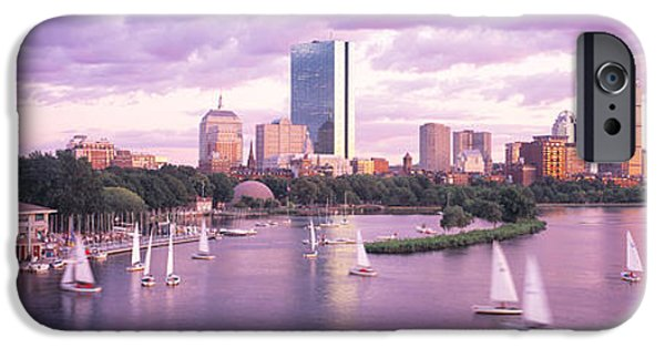 Boston Ma iPhone Cases - Dusk Boston Ma iPhone Case by Panoramic Images