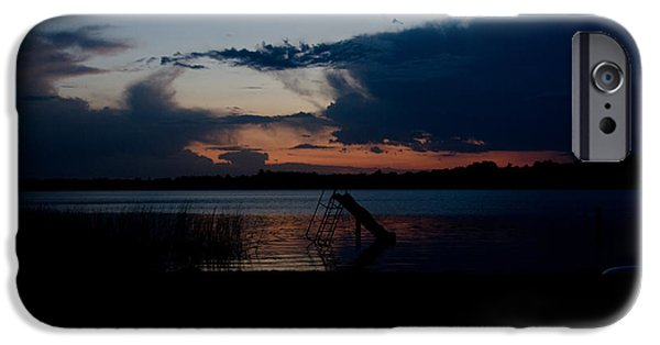 Independance Lake iPhone Cases - Dusk  iPhone Case by Cassie Marie Photography