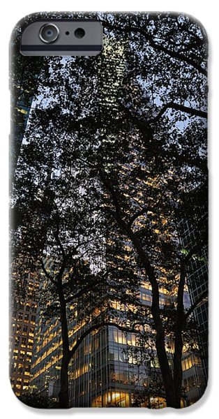 Dusk In Bryant Park iPhone Case by Sherri Quick