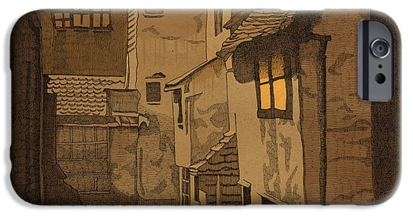 Alley Mixed Media iPhone Cases - Dusk iPhone Case by Meg Shearer