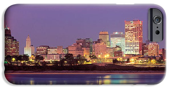 Tn iPhone Cases - Dusk, Memphis, Tennessee, Usa iPhone Case by Panoramic Images