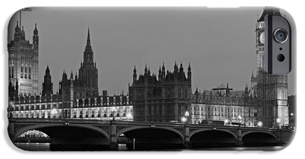 United iPhone Cases - Dusk On London iPhone Case by Adrian Alford