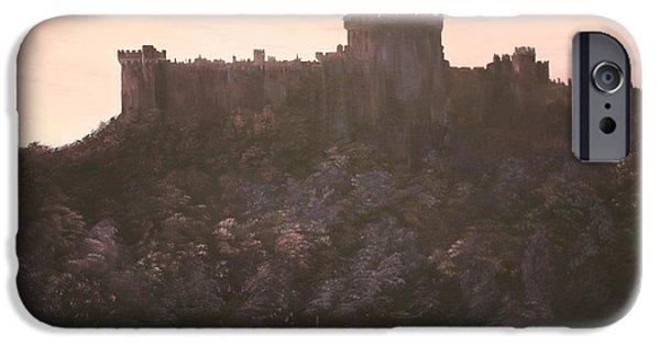 Princess Anne iPhone Cases - Dusk over Windsor Castle iPhone Case by Jean Walker