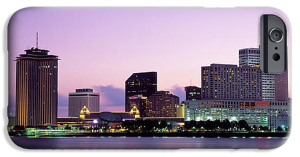 Big Easy iPhone Cases - Dusk Skyline, New Orleans, Louisiana iPhone Case by Panoramic Images