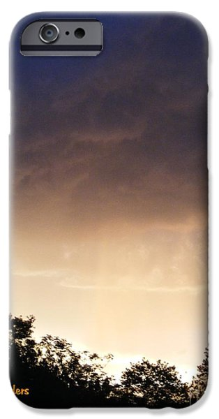 Abstract Digital Paintings iPhone Cases - DUSK SONATA 1 H a iPhone Case by Gert J Rheeders