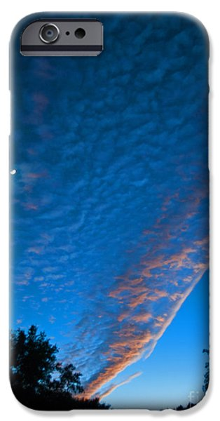 Consumerproduct iPhone Cases - Bright Blue Dusk iPhone Case by George D Gordon III
