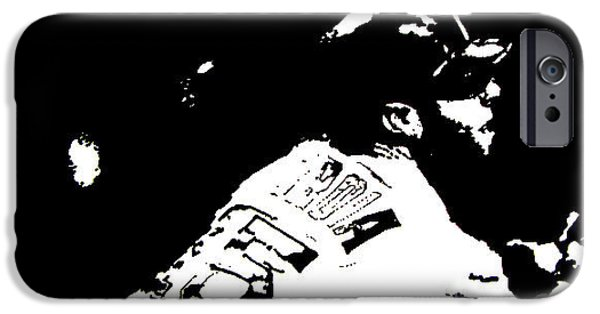 Dustin Pedroia iPhone Cases - Dustin Pedroia drawing iPhone Case by Rob Monte