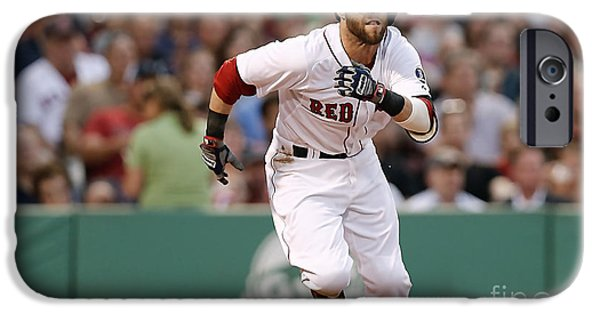 Dustin Pedroia iPhone Cases - Dustin Pedroia iPhone Case by Marvin Blaine