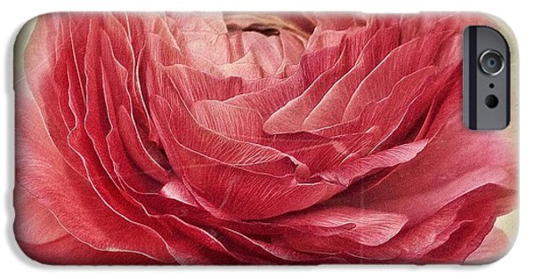 Close Up Floral iPhone Cases - Dusty Pink iPhone Case by Priska Wettstein