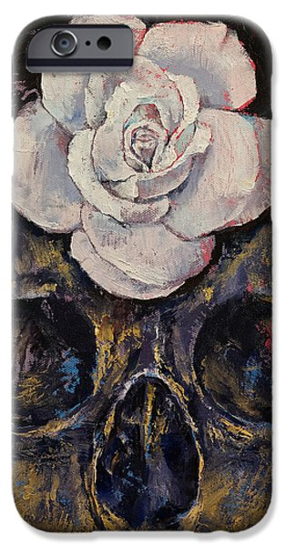 Michael iPhone Cases - Dusty Rose iPhone Case by Michael Creese