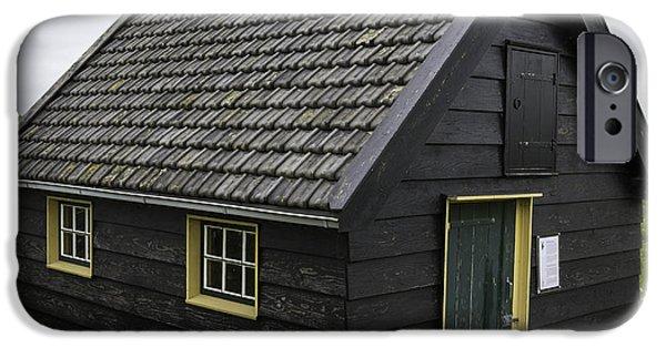 Historic Site iPhone Cases - Dutch Barn Kinderdijk Squared iPhone Case by Teresa Mucha
