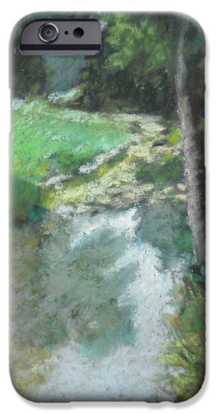 Creek Pastels iPhone Cases - Dutch Mills Creek-Study iPhone Case by Julie Mayser