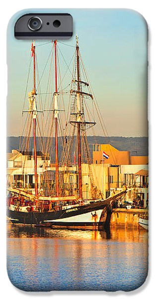Dutch Tall Ships Docked iPhone Case by Bill  Robinson
