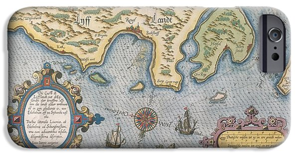 Finland iPhone Cases - Dutch Trade Map Of The Baltic Sea Hand-coloured Engraving iPhone Case by Dutch School