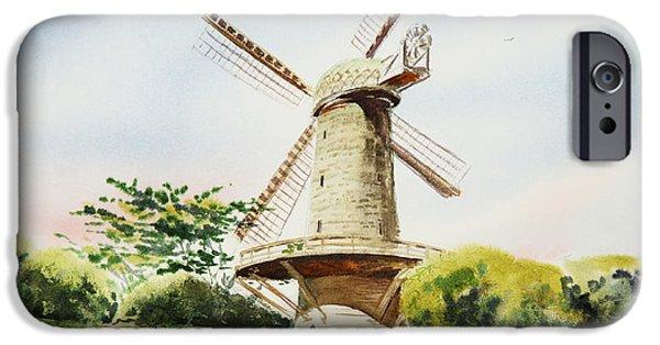 Windmills iPhone Cases - Dutch Windmill in San Francisco  iPhone Case by Irina Sztukowski