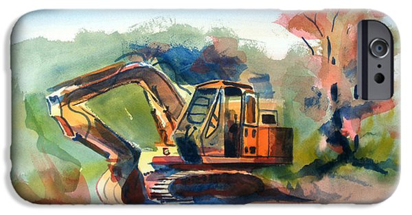 Machinery Mixed Media iPhone Cases - Duty Dozer iPhone Case by Kip DeVore