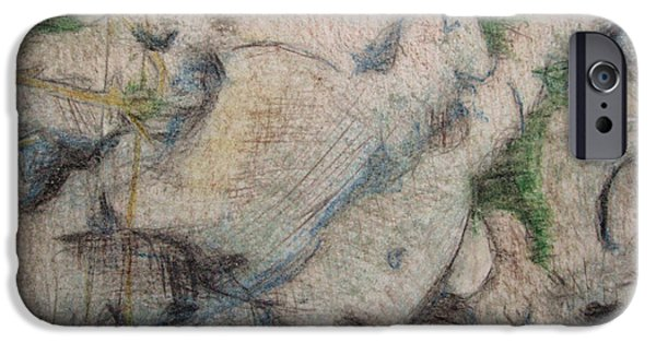 Tree Roots Drawings iPhone Cases - Duvet24 iPhone Case by Diane montana Jansson