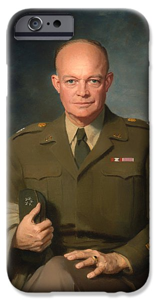 Recently Sold -  - President iPhone Cases - Dwight D Eisenhower iPhone Case by Thomas Stephens