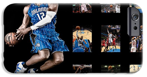 Dunk iPhone Cases - Dwight Howard iPhone Case by Joe Hamilton